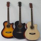 Guitarra acústica do OM do corpo de Lindenwood de uma cor de 40 polegadas