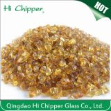 Lanscaping Glass Sand Crushhed Dark Amber Glass Chips Vidro decorativo