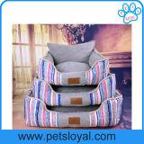 مصنع بالجملة نوع خيش قابل للغسل محبوب سرير كلب أسرّة