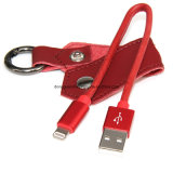 Mfi Certified Key Chain Leather USB Cable für iPhone