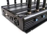 Emittente di disturbo da tavolino potente per frequenza ultraelevata Lojack rf 315/433/868MHz di VHF del telefono 2g 3G 4G GPS delle cellule di WiFi 5.2g 5.8g