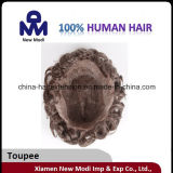 La Cina Factory Wholesale Cheap Hair Toupee per Men