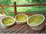 자연적인 애완 동물 침대를 길쌈하는 Handmade 고리버들 세공