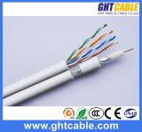 Muti-middelen de Kabel UTP van het Netwerk 4p Cat5e & RG6 Coaxiale Kabel