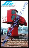 Телескопичный складной кран заграждения с кабиной оператора