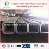Труба сваренная строительным материалом квадратная и прямоугольная стальная