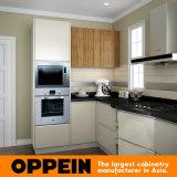 Da melamina moderna da venda por atacado HPL de Oppein gabinetes de cozinha pequenos (OP16-HPL02)