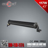 43 인치 117W (39PCS*3W) Pencil 또는 Flood/Combo Beam Single Row 크리 말 LED Light Bar (SM-11X-117A)
