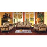 يعيش غرفة ثبت أثاث لازم مع أريكة خشبيّة ([د92])
