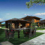 Glassic普及したデザイン6/8人(YT620)によって椅子及び表を食事する紫外線抵抗力がある屋外の庭の家具