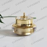 30g化粧品の包装のための贅沢な金の王冠のアクリルのクリーム色の瓶(PPC-NEW-007)