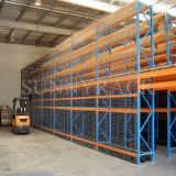 Vorgewählte Lager-Speicher-Lösungs-Zahnstangen-Stahlmezzanin-Fußboden
