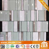 Vetro Mix Stainless Steel e Marble, Piano Keyboard Pattern Mosaic (M855106)