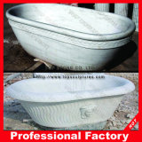 White Polished Marble Stone Bathtub per Bathroom