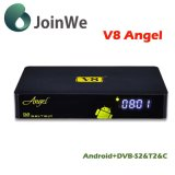 V8 Angelandroid 4.4 IPTV+DVB-S2/T2/C最もよいHDのサテライトレシーバ