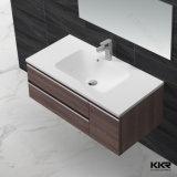 Bacia de lavagem de superfície contínua acrílica do banheiro com gabinete 170105