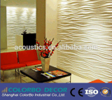 El panel de pared tallado 3D natural China-Hecho del MDF de la onda del MDF