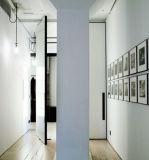 Portas interiores do quarto, projeto de vidro de madeira da porta, portas da rua de madeira modernas