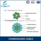 광섬유 케이블 동시 커뮤니케이션 & 번개 보호를 위한 합성 머리 위 접지선 Opgw 광학 섬유 케이블