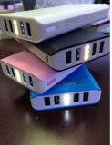 banco portátil da potência da capacidade 20800mAh enorme com o carregador do telefone móvel do USB 4