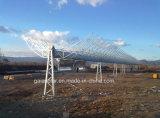 Concentrador solar de concentração parabólico da planta solar