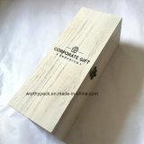 Promoción/publicidad/rectángulo de madera del empaquetado/de almacenaje del regalo con la tapa con bisagras
