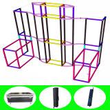 Крюк & прикрепленное петлей индикаторное оборудование ткани выставки алюминиевой структуры портативное