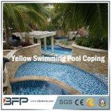 Mattonelle gialle cinesi granito/della pietra per fare fronte della piscina/bordi di nuoto/pavimentazione del raggruppamento