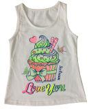 심혼 (SV-025)를 가진 아이들 소녀 t-셔츠에 있는 아름다운 편지 소녀 조끼