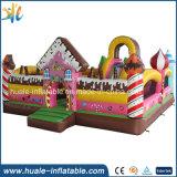 ピンクキャンデーは幼稚園のためのおもちゃの膨脹可能なジャンパーの弾力がある城をからかう