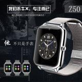 2016 nueva llegada Z50 correa del metal del reloj del deporte con la pantalla táctil ranura para tarjeta SIM del teléfono móvil Bluetooth