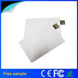 Mecanismo impulsor plástico al por mayor del flash del USB del estilo de la tarjeta de encargo 4GB