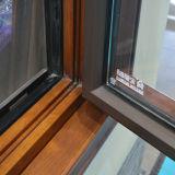 Ventana de madera de aluminio del marco Kz205 con la ventana fija del arco multi del bloqueo