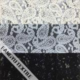 Tessuto del merletto con figura di foglio per il vestito