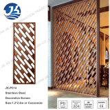 Nam de Gouden 304 Verdelers van de Zaal van het Roestvrij staal Laser Gesneden Decoratieve toe