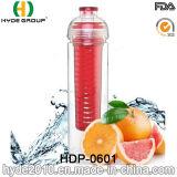 бутылка воды Infuser плодоовощ 750ml Tritan материальная, BPA освобождает пластичную бутылку воды вливания плодоовощ (HDP-0601)