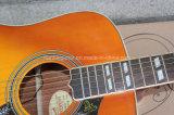 Hanhai Música / 41 '' Hummingbird Folk guitarra acústica con la unión blanca