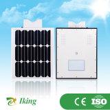 A eficiência luminosa elevada 10W integrou tudo em uma luz de rua solar