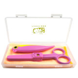 Cerâmica Folding Fruit Knife & Scissors Set with Plastic Case