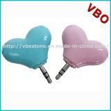 Diviseur coloré d'écouteur de forme de coeur pour des couples, diviseur de musique, accessoires d'écouteur