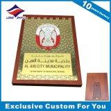 plaques en bois décoratives de mur de récompense de l'alliage 3D