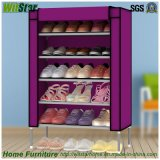 Form 5 Tier Metal Frame Waterproof Cloth Shoe Cabinet (WS16-0040, für Schuhspeicher)