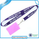 Matériau en polyester Custom Design Card Holder Lanyard