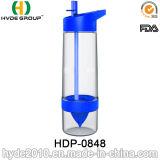 подгонянная 650ml бутылка воды вливания плодоовощ BPA свободно Tritan, пластичная бутылка Zinger цитруса плодоовощ (HDP-0848)