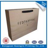 Sacchetto di acquisto della carta kraft del Brown Con la maniglia piana (GJ-bag154)