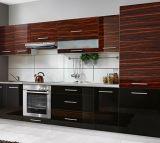 Mobília de madeira lustrosa moderna do gabinete de cozinha 2016 (ZHUV)