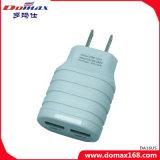 Заряжатель USB Aadapter штепсельной вилки стены 2 устройства мобильного телефона