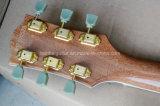 Guitare électrique de musique de Hanhai/de jazz couleur en bois normale avec le placage d'érable