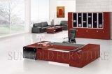 贅沢なCEOの机の簡単な飼い葉桶の机L形のオフィス用家具