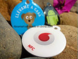 NFC Pet ID Collar RFID Tags para cães Tracking Smart Cards